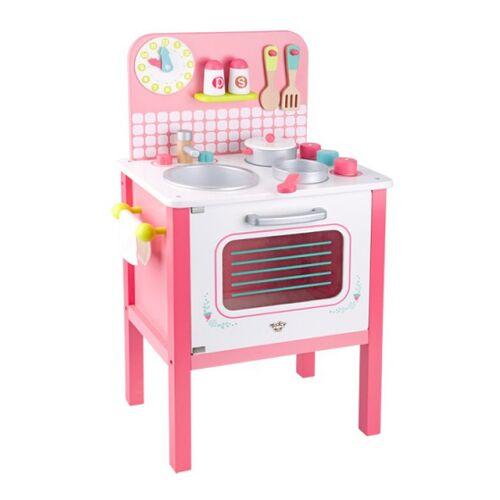 Tooky Toy spielzeug Küchenmädchen 39,5 x 68 cm Holz rosa 10 teilig