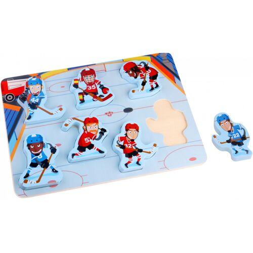 Tooky Toy puzzle IJshockey junior Holz 7 Teile