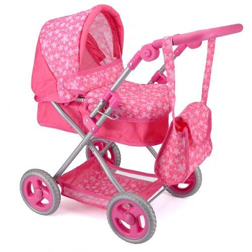 Toyrific Kuschelpuppen Kinderwagen Deluxe rosa 66 x 47 x 40 cm