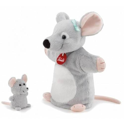 Trudi hand  und Fingerpuppe Maus grau 25 cm