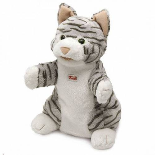 Trudi Katze Handpuppe 25cm Grau