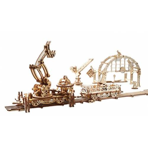 Ugears schienengebundener Manipulator 50 x 21 x 40 cm Birkenholz