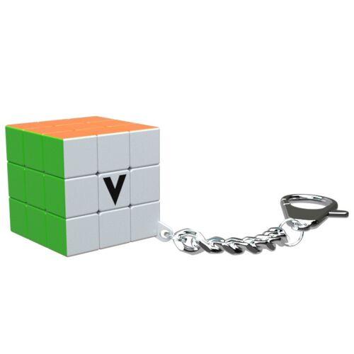 Cube V Cube schlüsselanhänger Flat puzzle 3,5 x 3,5 cm orange/grün