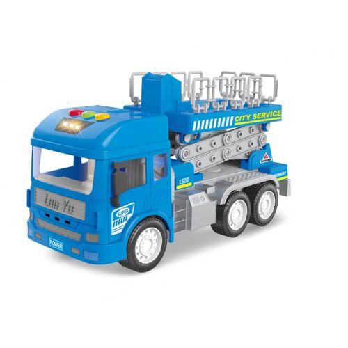 Luna feuerwehrauto Arbeitsjungen 33 x 22 cm blau