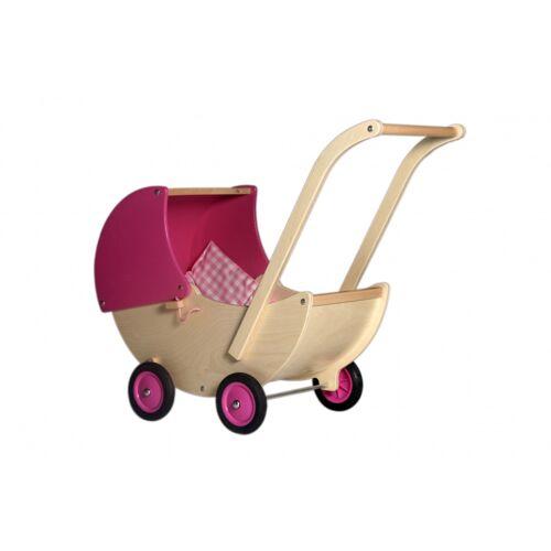 Van Dijk Toys puppen Kinderwagen Holz 57 cm rosa