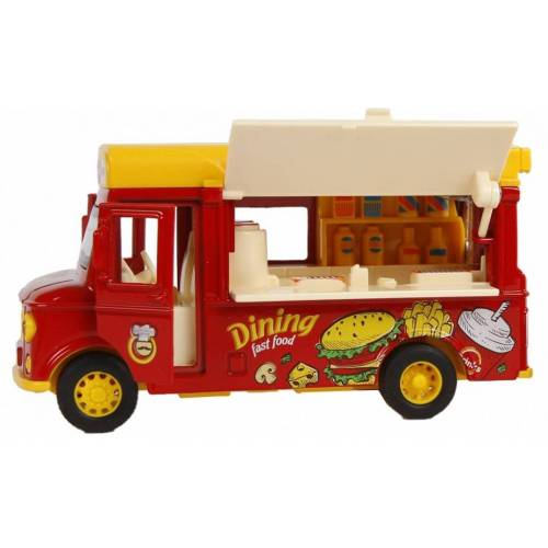 Toys Amsterdam foodtruck hamburger junior 11 cm rot/gelb 2 teilig