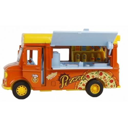 Toys Amsterdam kleintransporter Pizza Junior 11 cm orange/gelb 2 teilig