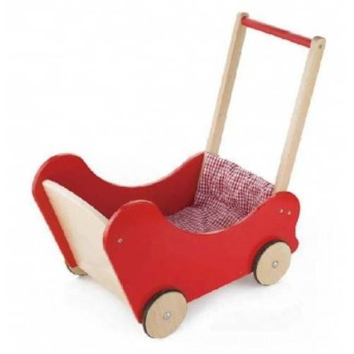 Viga Toys holzpuppenwagen 55,3 cm rot