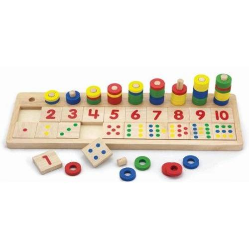 Viga Toys kalkulationsspiel Match the Numbers Holz 86 teilig (NL)