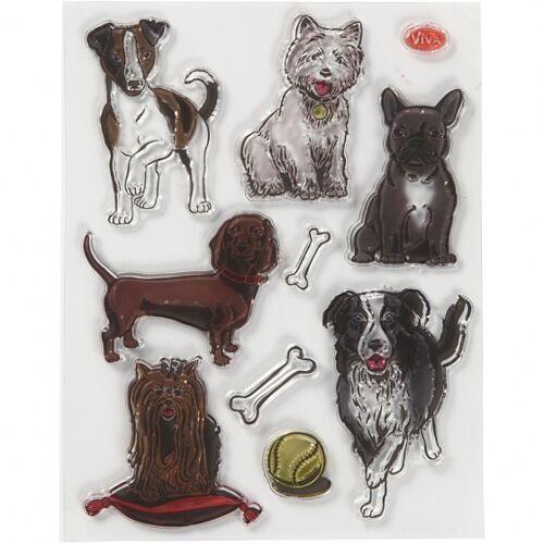 Viva Decor briefmarken Hunde Silikon 14 x 18 cm