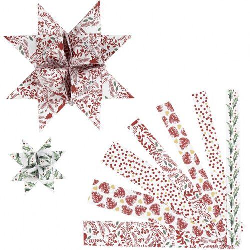 Vivi Gade zopfstreifen Vellum Papier 44/78 cm weiß/rot 48 Stück