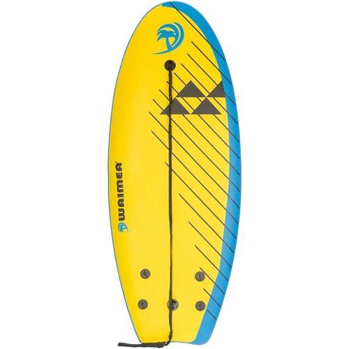 Waimea surfbrett Slick 114 x 45 cm gelb/weiß