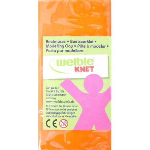 Weible Knet Fantasy Clay Blockform 250 Gramm Orange