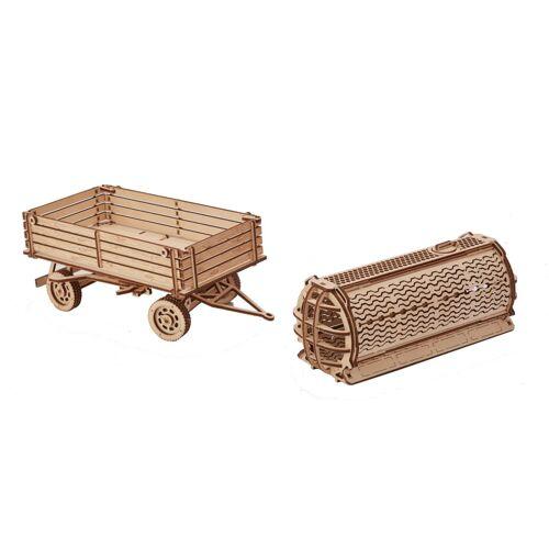 Wood Trick 3D Modellbau Anhänger 30 cm Holz natur 153 teilig