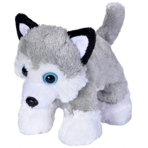 Wild Republic stofftier Husky junior 18 cm Plüsch weiß/grau
