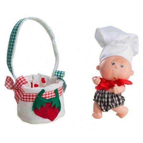 Berjuan babypuppe Boutique Puppen 12 cm grün/rot
