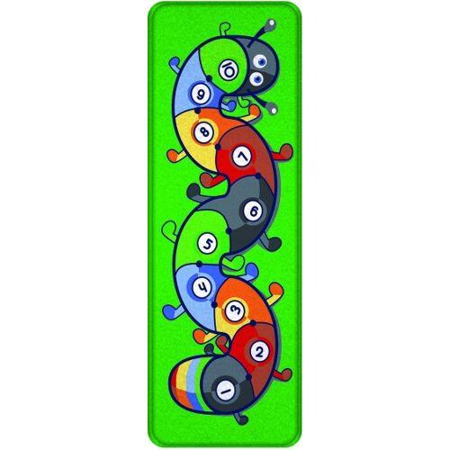 ACHOKA Spielteppich Raupe 100 x 300 cm grün