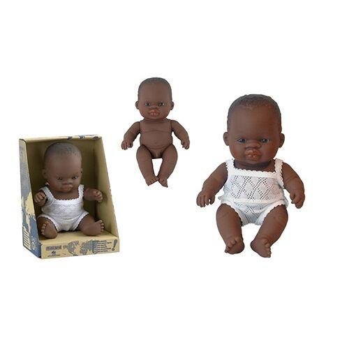 Miniland Baby Puppe Dark Boy 21 cm