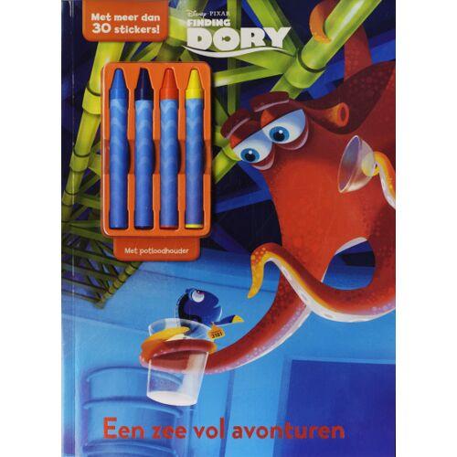 Rebo Productions Ausmalbuch Disney Dory mit Buntstiften 29 cm