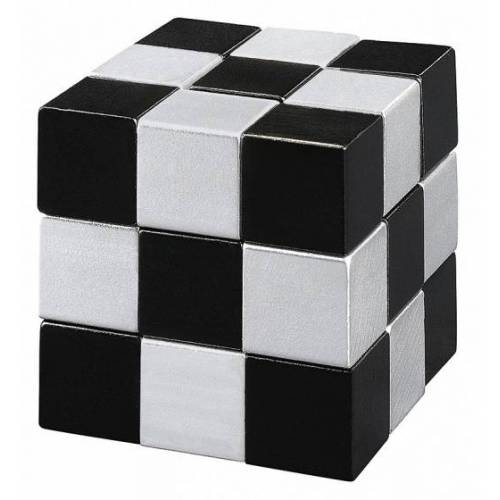 Moses puzzle Snake2Cube Silber 4,5 cm