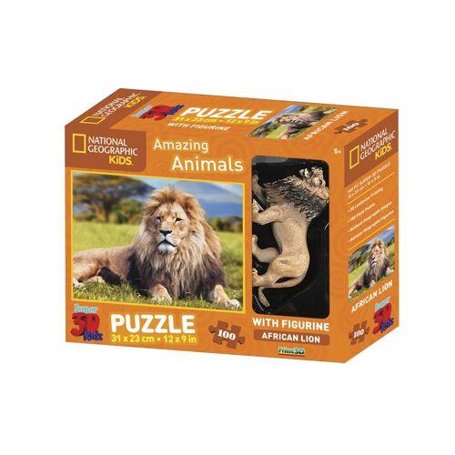 PRiME 3D puzzle Amazing Animals Löwe 100 Stück