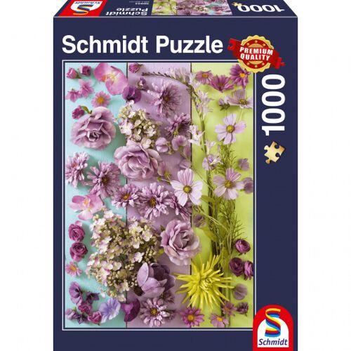 999 Games puzzle Violette Bloesems 37,3 x 27,2 cm 1000 Teile