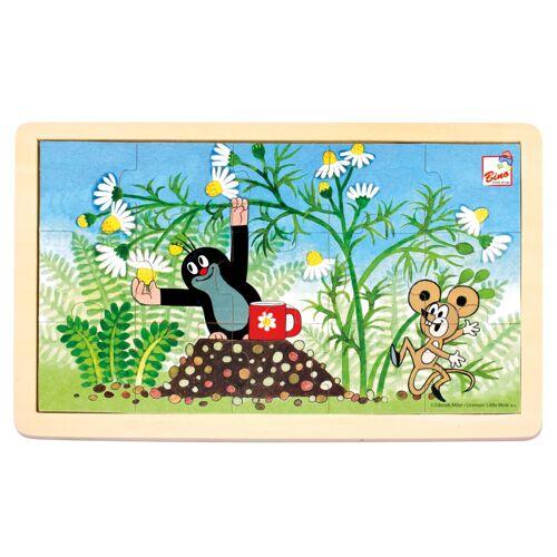 Bino puzzlespiel Little Mole junior 30 cm blau/grün 15 teilig