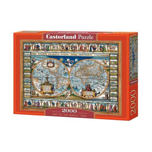 Castorland puzzle Weltkarte 1639 2000 Teile