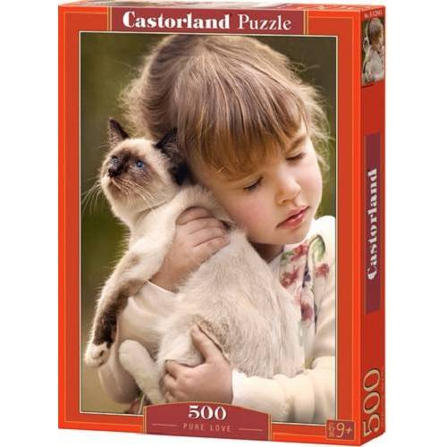 Castorland puzzle Pure Love 47 cm Karton rot 500 Teile