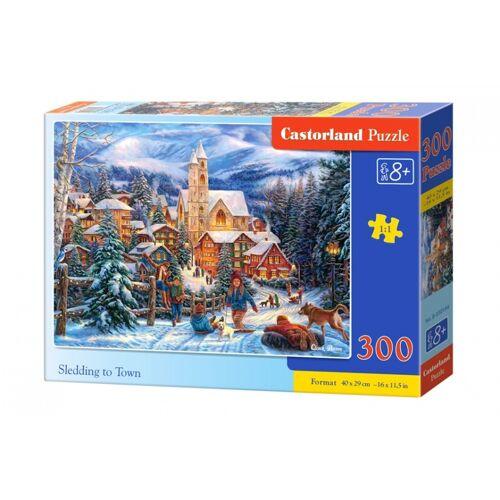 Castorland Schlitteln in der Stadt Puzzle 300 Stück