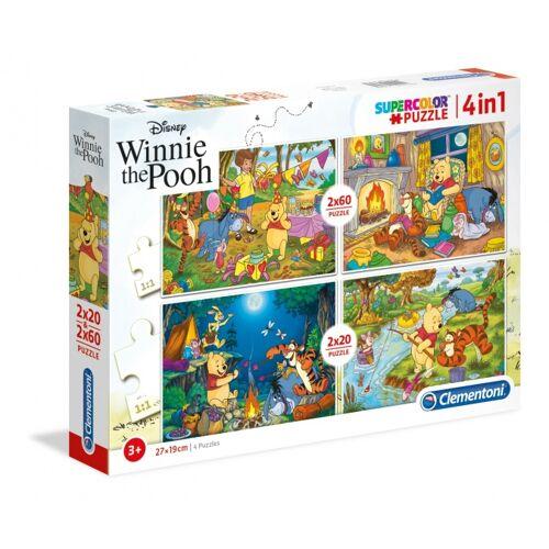Clementoni puzzle Disney Winnie the Pooh 4 Puzzles 20 180 Teile