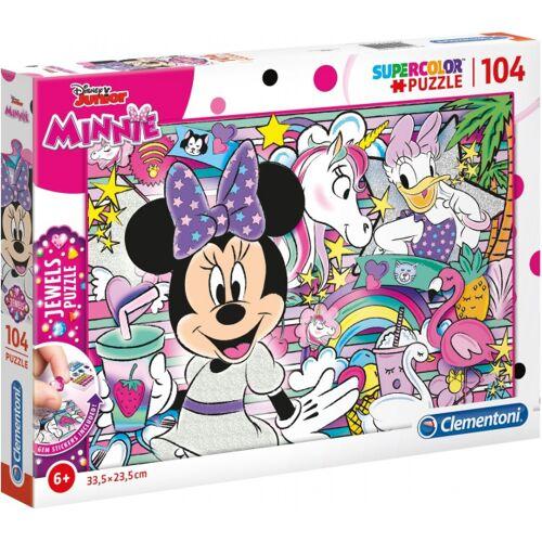 Clementoni puzzlespiel Minnie Mouse Juwelen Karton 104 Teile
