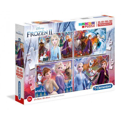 Clementoni legpuzzel Supercolor Disney Frozen 2 20+60+100+180 Stück
