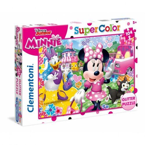 Clementoni puzzle Glitter Puzzle Minnie 104 Teile