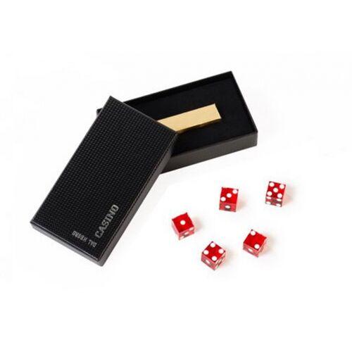 Dal Negro würfel mit Aufbewahrungsbox 19 mm rot/schwarz 6 teilig