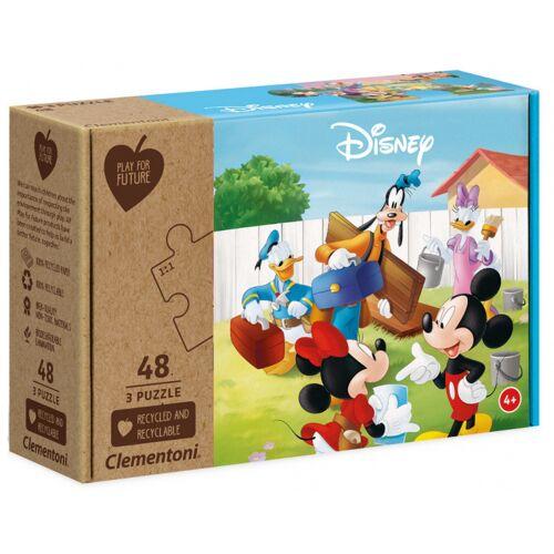 Disney puzzle Mickey junior 3 in 1 Karton 144 Teile