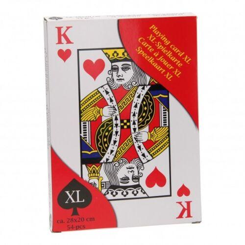 Eddy toys spielkarten XL 28 x 20 cm 54 Stück