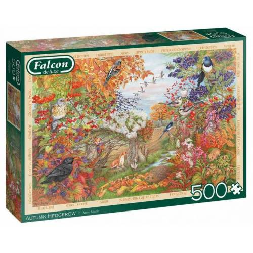 Falcon puzzle Herbst Hecke 500 Teile