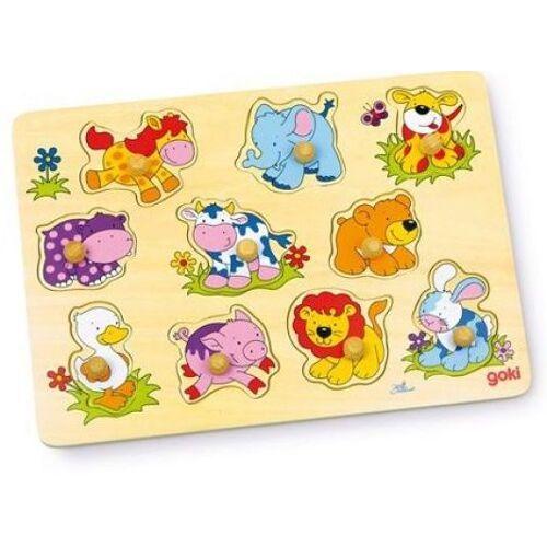 Goki 10 teiliges Puzzle Tierbabys