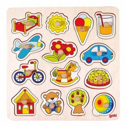 Goki 14 teiliges Puzzle Rocking Horse