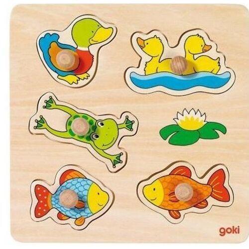 Goki 5 teiliges Puzzle US Teich