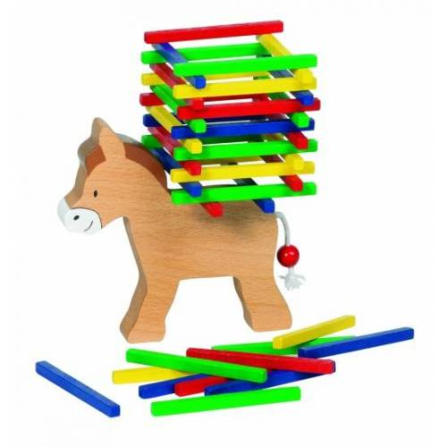Goki balance Spiel Balancieren Esel 12 cm