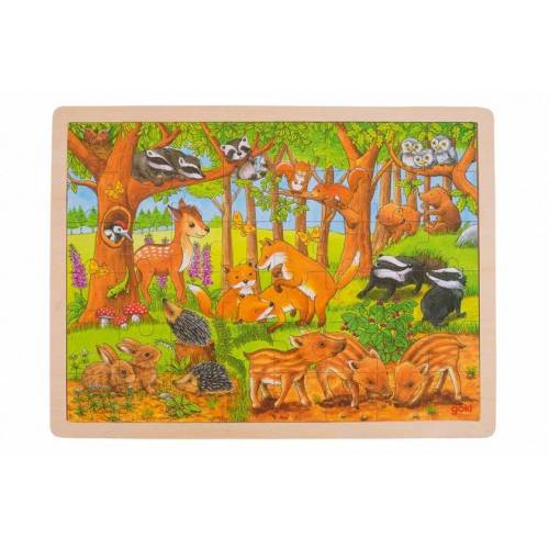 Goki Holz Puzzle Waldtiere 48 PC