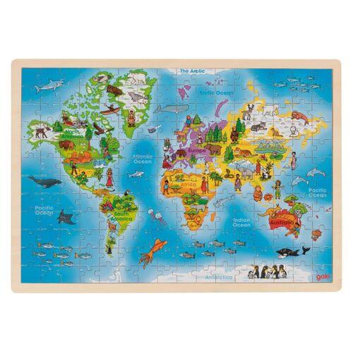 Goki puzzle Weltkarte Holz 192 teilig