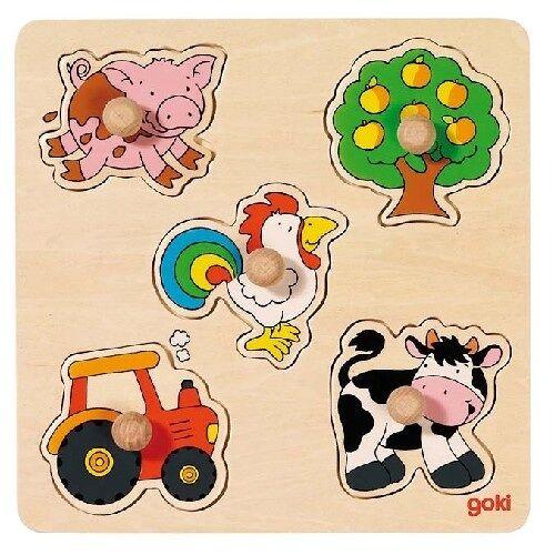 Goki Kleine Holz Puzzle 5 teilig