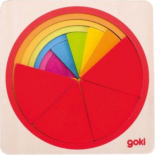 Goki puzzlekreis Holz 12 x 12 cm 21 teilig