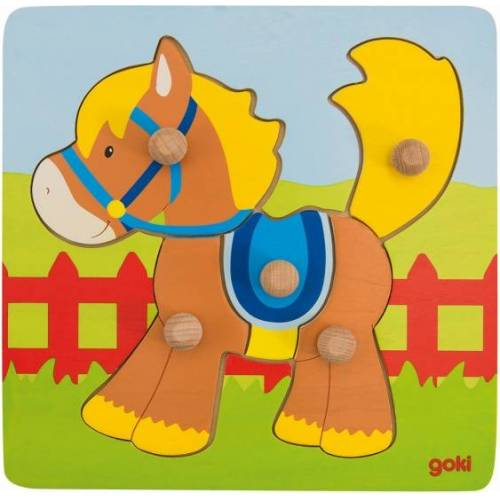 Goki puzzle Paard junior Holz 5 Teile