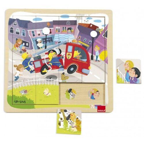 Goula 16 Stück Puzzle Feuerwehr