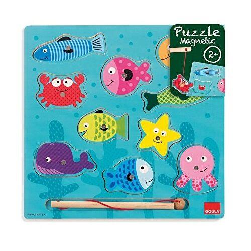 Goula Magnet Puzzle Fisch Holz 10 Stück