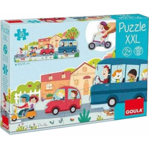 Goula puzzlespiel XXL City junior 80 x 38 cm Karton 18 Teile